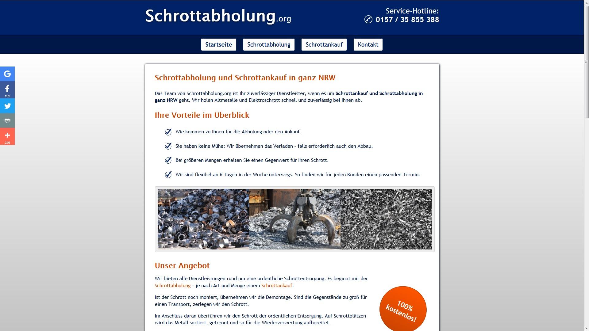 Schrottabholung in Aachen