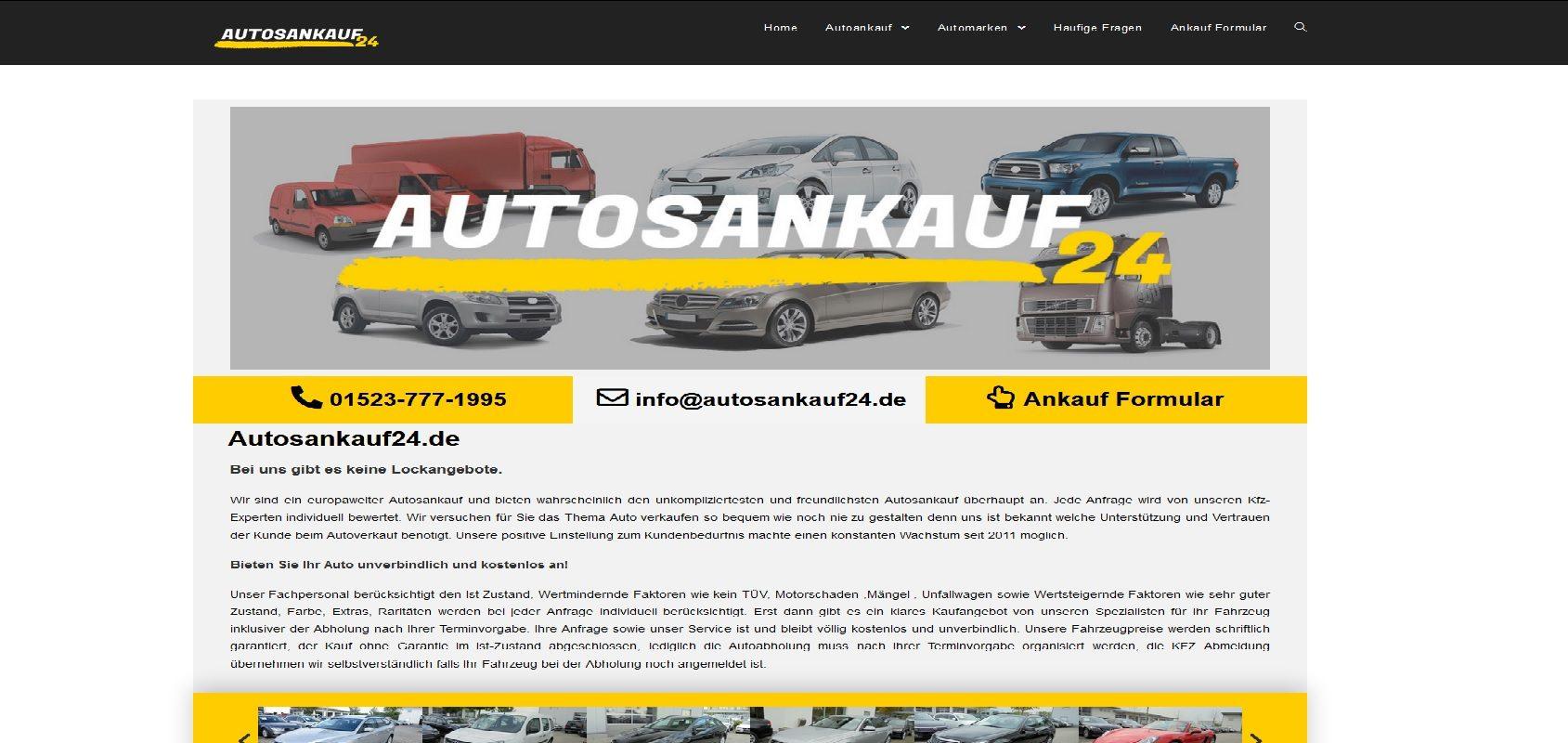 autosankauf24.de Autoankauf PKW Ankauf