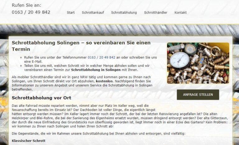 Schrottabholung Solingen: Fahrende Schrotthändler aus Solingen nehmen alles mit