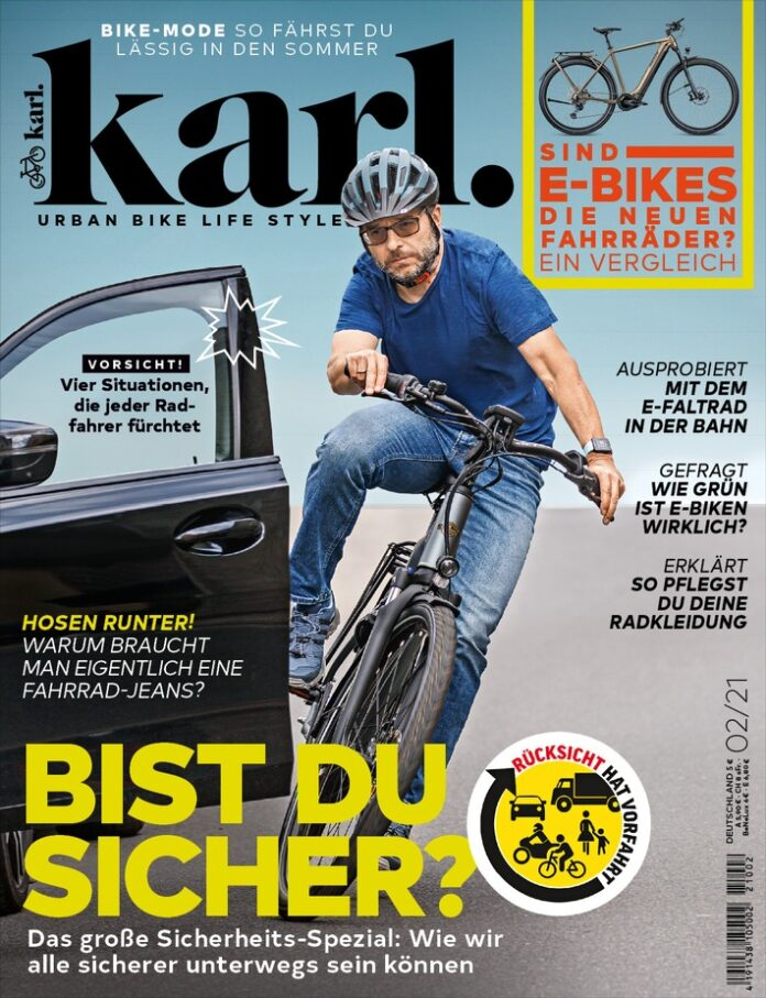 image 1 93 696x907 - Mehr Sicherheit für Radfahrer gerade im engen Stadtverkehr - Radmagazin Karl plädiert für mehr gegenseitige Rücksicht